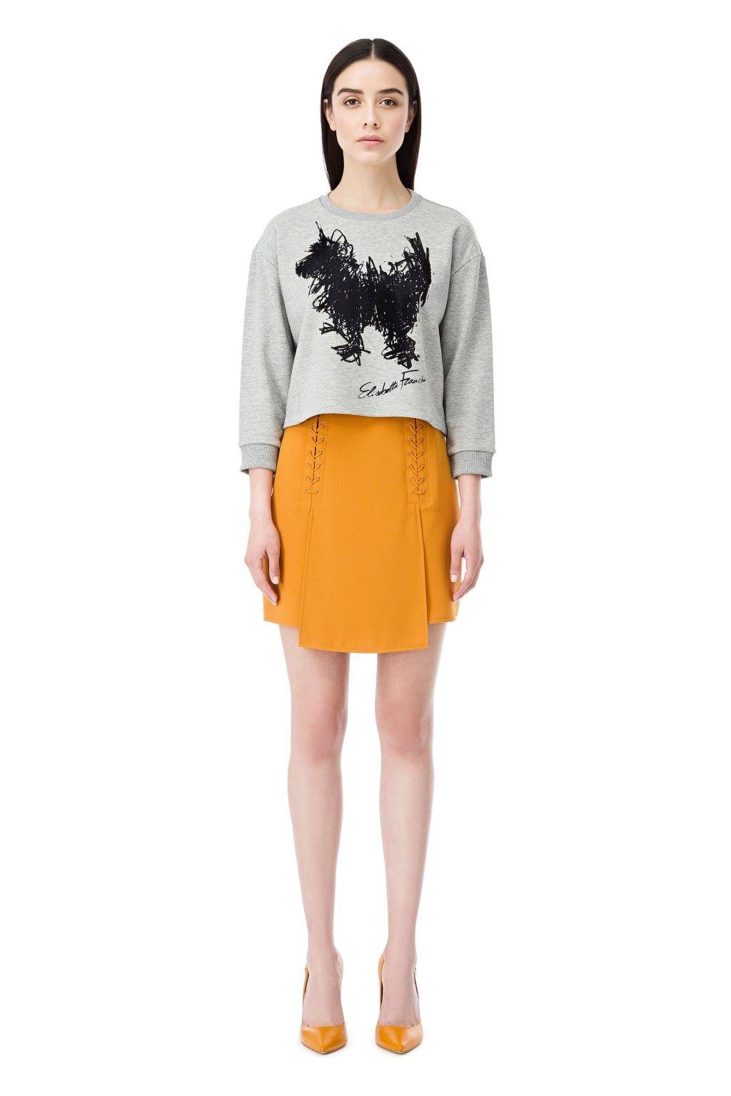 Miniskirt with lacing detail - Elisabetta Franchi