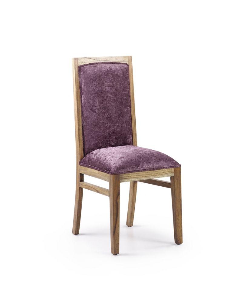 Cette superbe chaise en mindy massif et tissu velours saura vous séduire par sa couleur violet. Cette chaise Miami ornementera votre table et donnera une touche de couleur à votre cuisine ou salle à manger. Vous pouvez la retrouver dans les ambiances Chic et Contemporain. Son poids est de 6kg.  On dirait le sud reste à votre disposition pour vous conseiller.