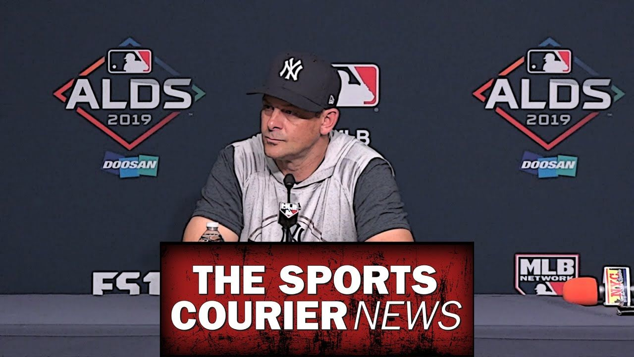 Ny Yankees Manager Aaron Boone On 2019 Alds Minnesota Twins New York Yankees Minnesota Twins Ny Yankees