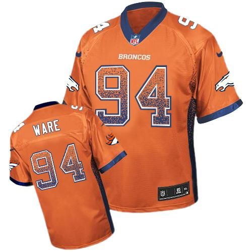 6bb3a38f Nike Broncos #94 DeMarcus Ware Orange Team Color Men's Stitched NFL ...