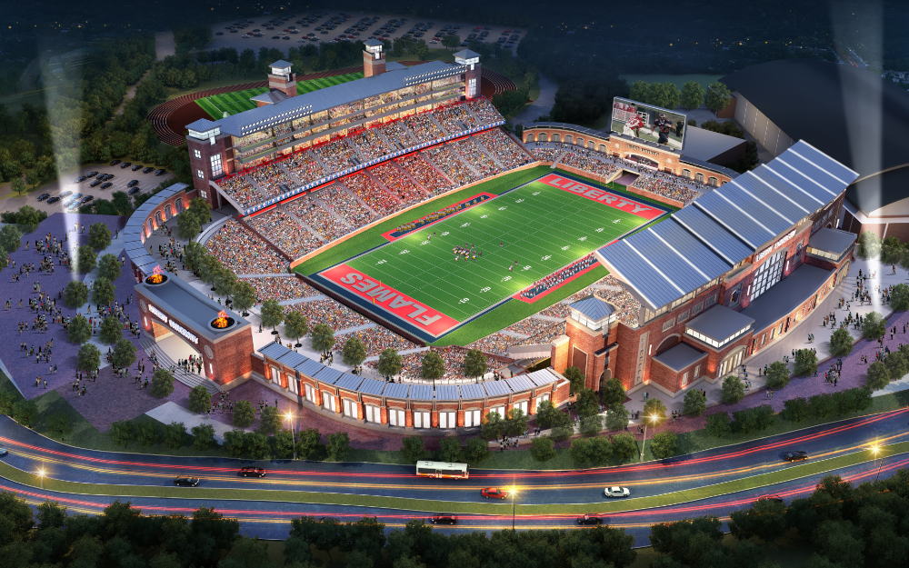 Liberty University Williams Stadium Expansion In 2020 Stadium Architecture Stadium Design Liberty University