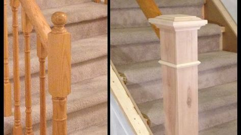 How To Build A Diy Newel Post Replacement Staircase Renovation Episode 2