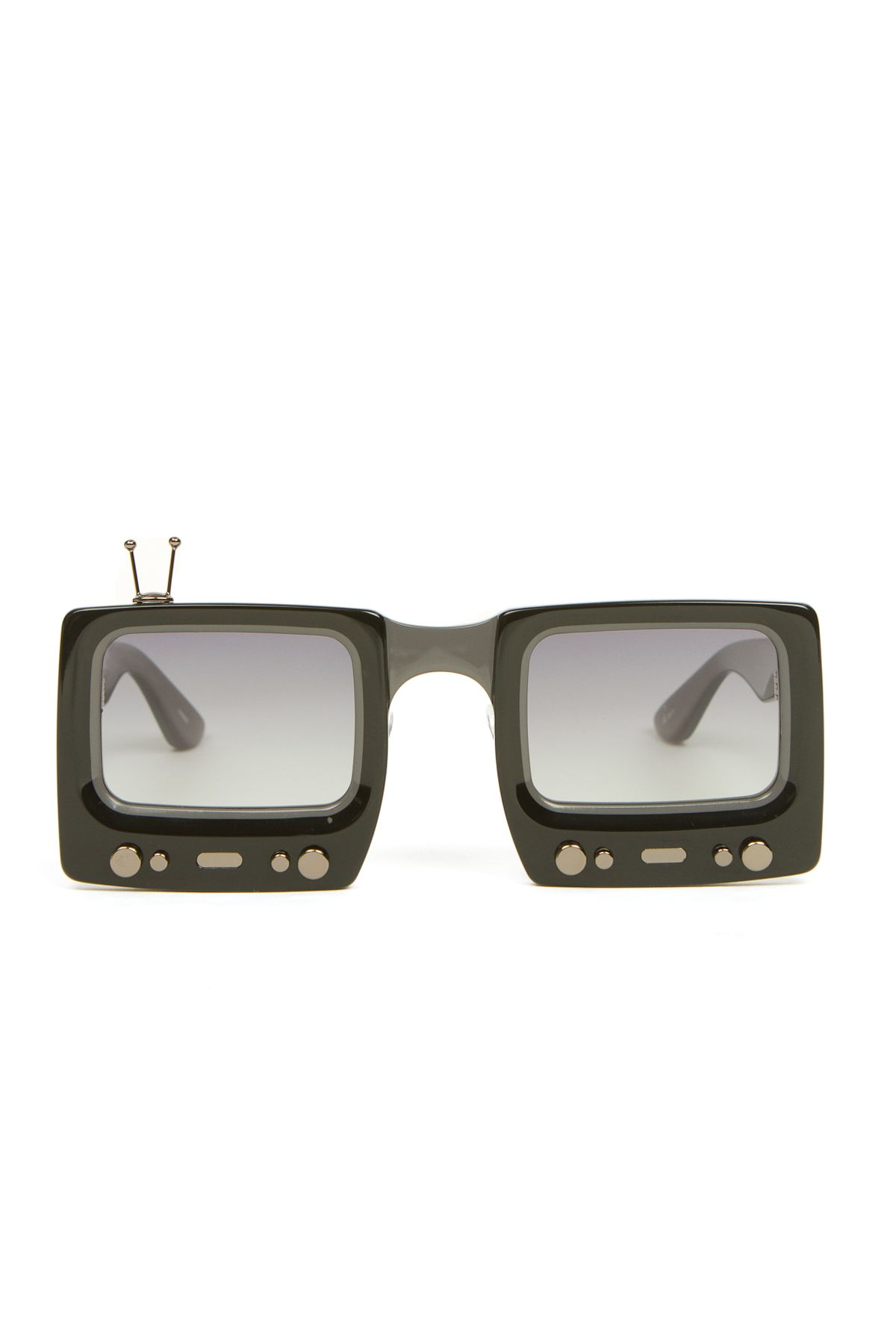 2a44ba54890d Linda Farrow Jeremy Scott TV Screen Square Sunglasses