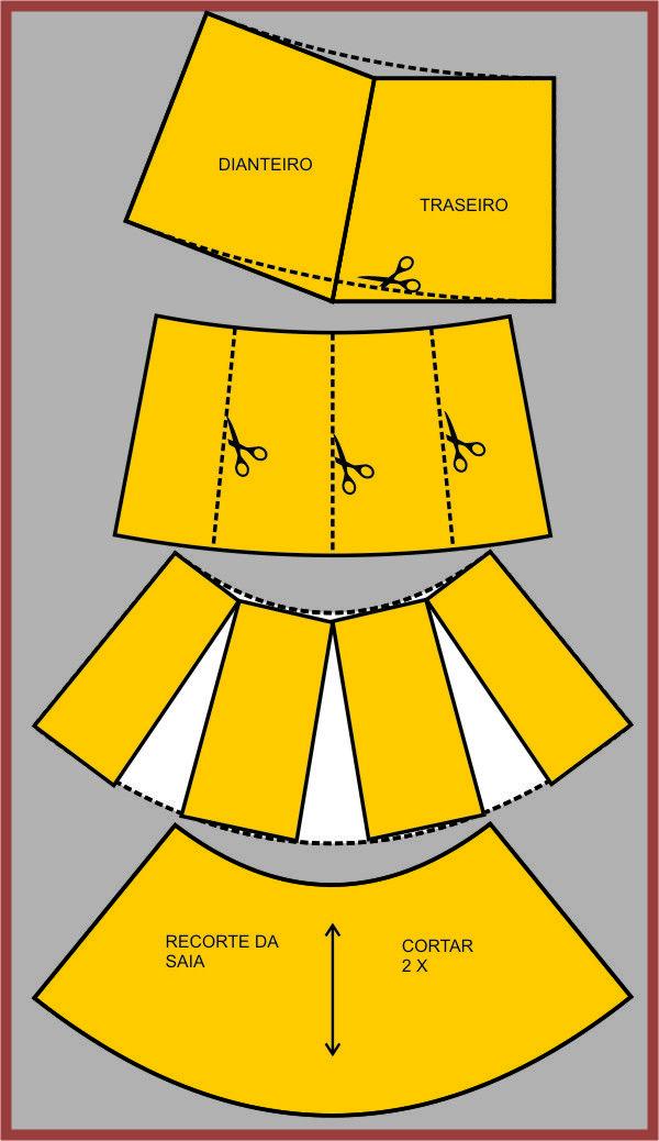ROBERTTO DIAS: MOLDE VESTIDO COM RECORTE EVASÊ | Costura | Pinterest