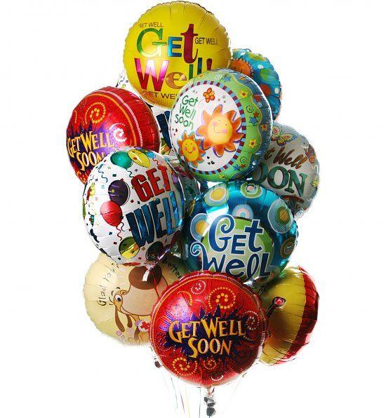 Get Well Balloon Bouquet 12 Mylar Get Well Balloons Balloon Bouquet Get Well Gifts