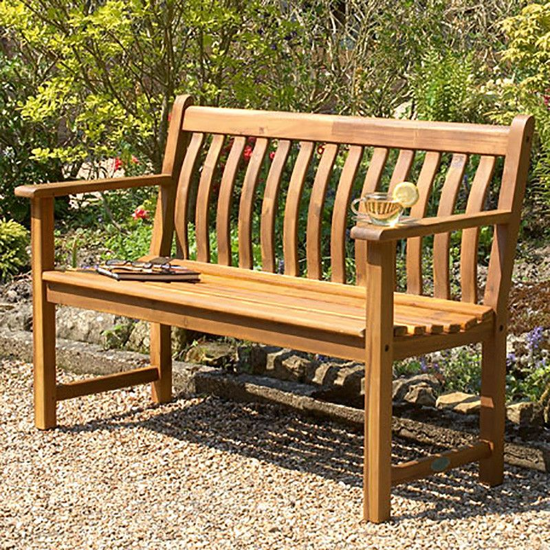 Awesome Alexander Rose Acacia Broadfield Wooden Bench 4Ft 1 2M Pabps2019 Chair Design Images Pabps2019Com