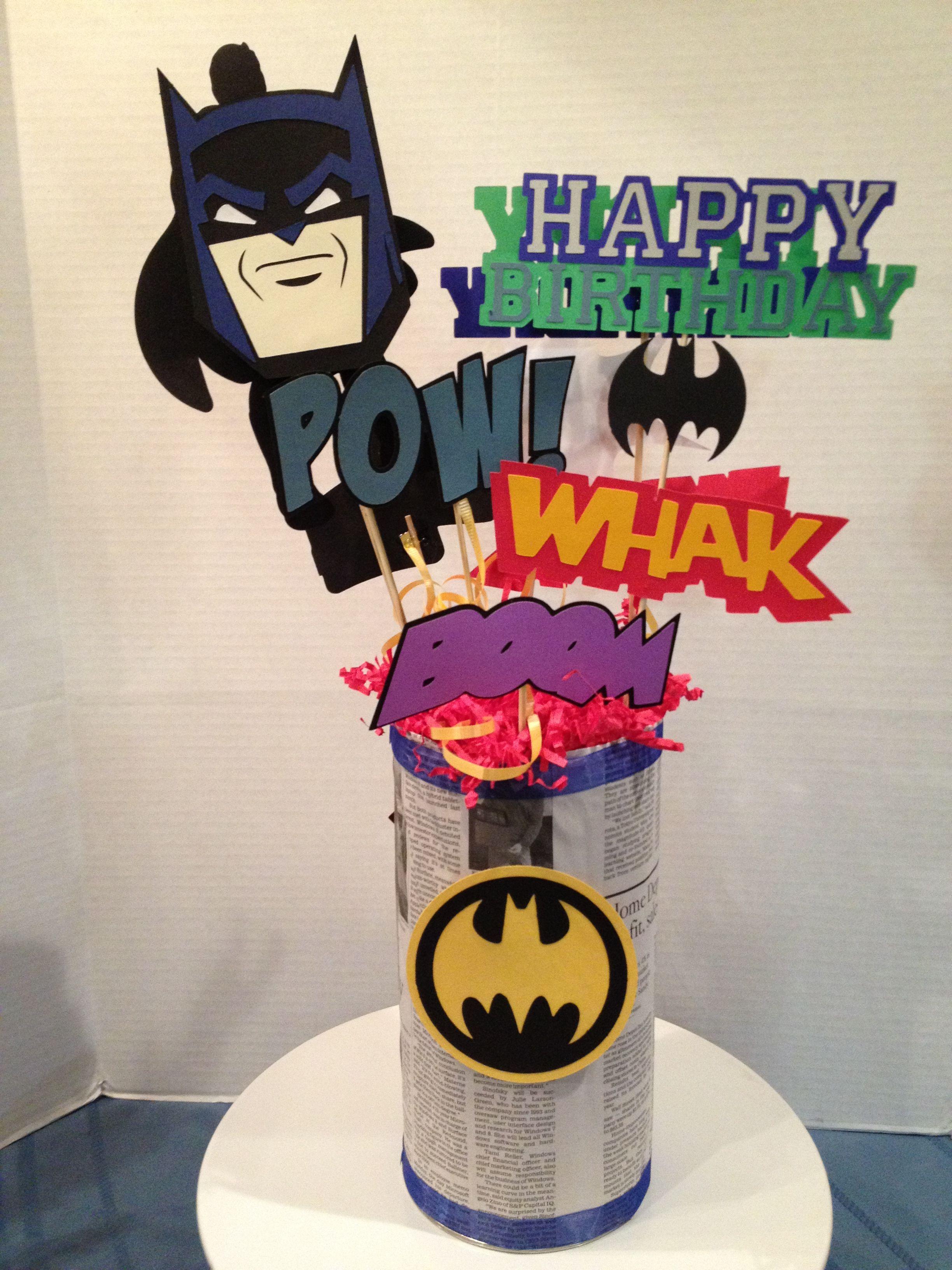 """Batman Centerpiece """"MY"""" 3D Banners Gifts Crafts"""