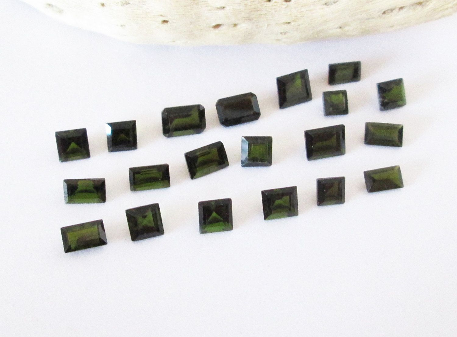 Natural Green Tourmaline Emerald and Square Princess Lot 8.65cttw by BellaGems61 on Etsy