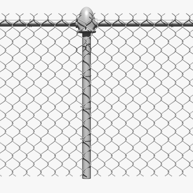 Chain Link Fence Metal 3d Dxf Chain Link Fence Panels Chain Link Fence Metal Fence Posts