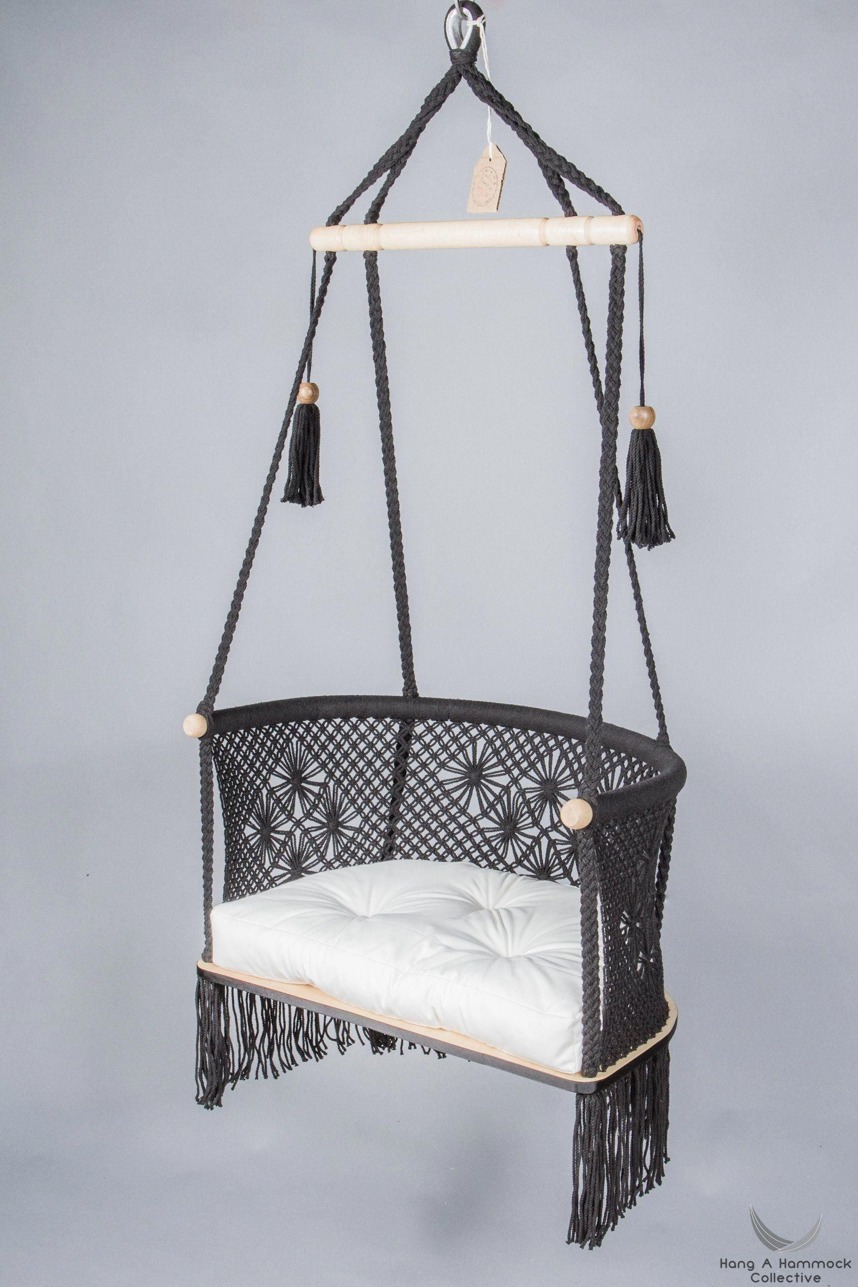 hanging chair restoration hardware best home furnishings in macrame black kidshangingchair