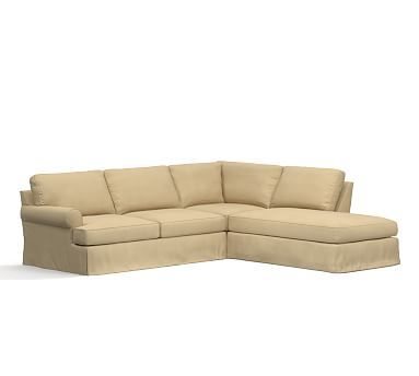 Townsend Roll Sectional Poly Everyday Suede L 3pc With Bumper Oat Sectional Slipcover Slipcovers Build Your Own Sectional