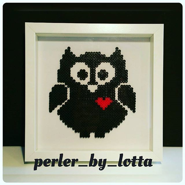 Owl hama beads by  perler_by_lotta