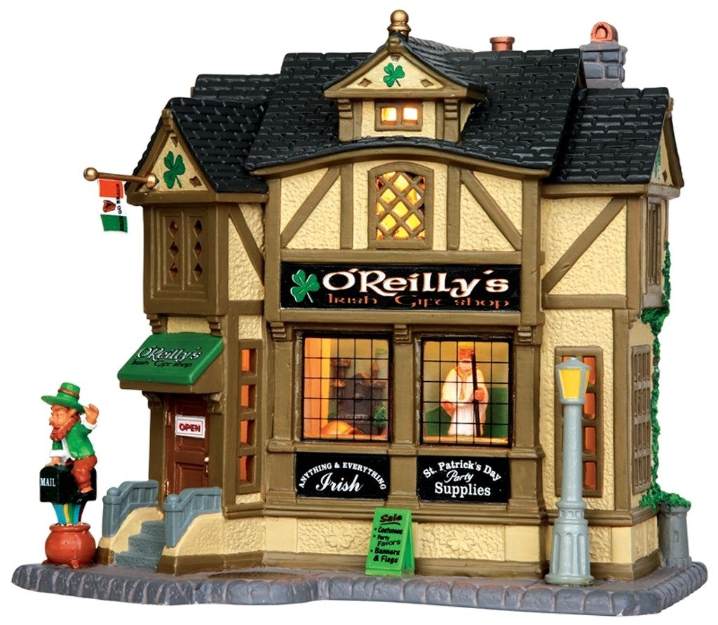 O'Reilly's Irish Gift Shop Christmas village houses
