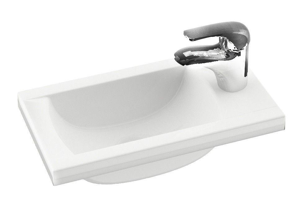 mini waschbecken 40 x 22 cm das mineralguss mini waschbecken 40 x 22 cm kleiner waschtisch f r. Black Bedroom Furniture Sets. Home Design Ideas