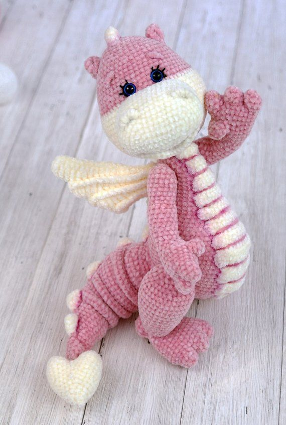 Crochet pattern: Little Dragon #knittedtoys