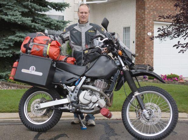 ever wondered what a #rtw motorcyclist looks like? johan senekal