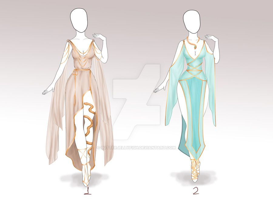 Closed Adoptable Outfits 009 010 By Https Www Deviantart Com Butterjellyfish On Deviantart Drawing Anime Clothes Art Clothes Fantasy Clothing
