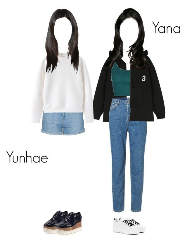 """""""We're going out to buy food with Hina~ Yana & Yunhae"""" by kkomppul ❤ liked on Polyvore featuring Topshop, STELLA McCARTNEY and Kenzo"""
