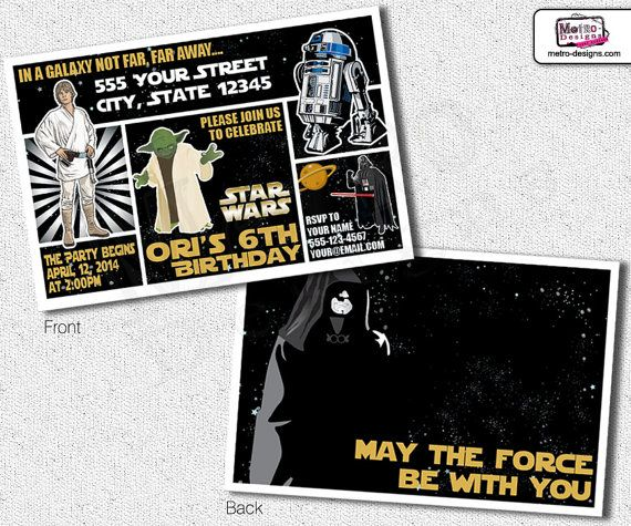 Superb Star Wars Invitation Digital File By MetroEvents On Etsy, $8.98