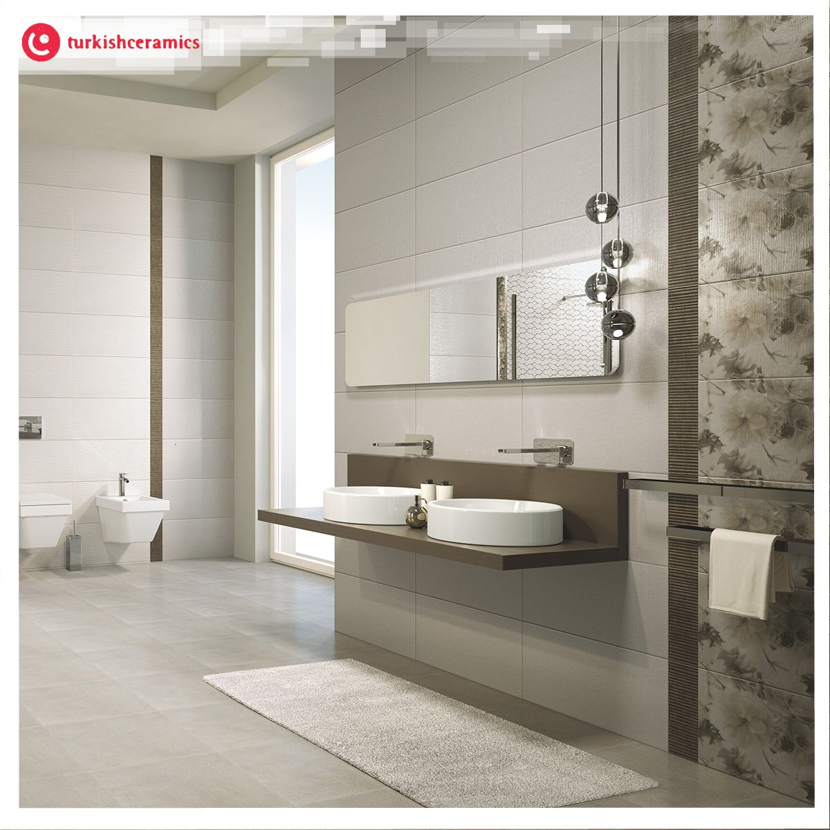 For a one of a kind bathroom use several different types
