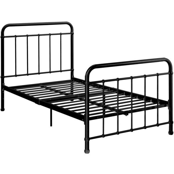 Dhp Brooklyn Metal Iron Bed W Headboard And Footboard Adjustable