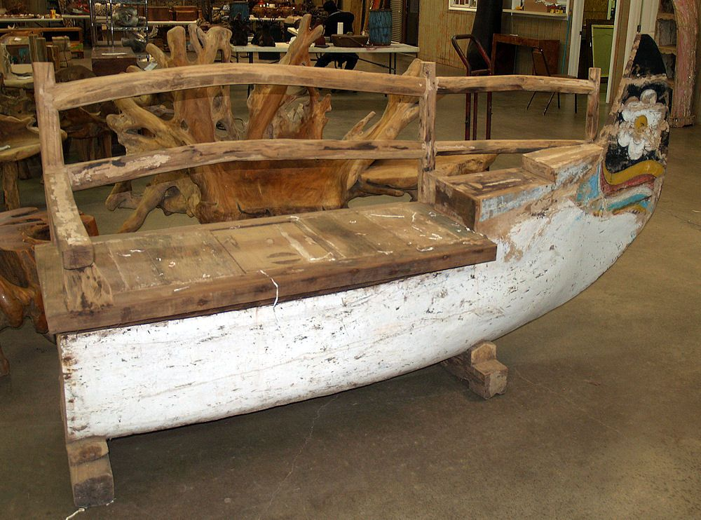 Bench Made From A Boat Home Pinterest Boating And Bench