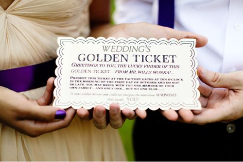 Wonka Wedding Invites Ideas