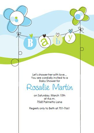 Download and print the blue shower invitation template - baby shower invitations free templates online