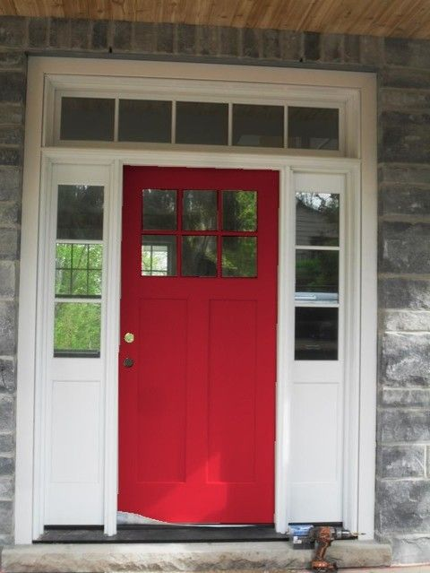 Sherwin Williams Positive Red Red Door Front Door Exterior Door Painted Front Doors Cottage Front Doors Front Door Paint Colors
