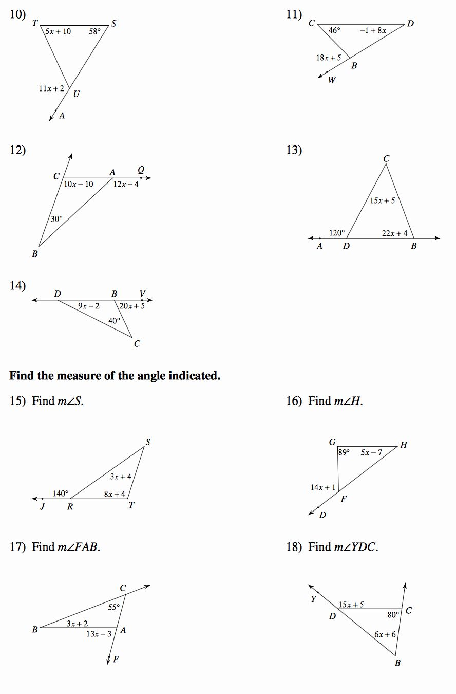 50 Exterior Angle Theorem Worksheet In 2020 Exterior Angles