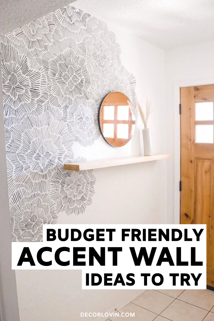 Budget Friendly DIY Accent Wall Ideas   Accent walls in ...