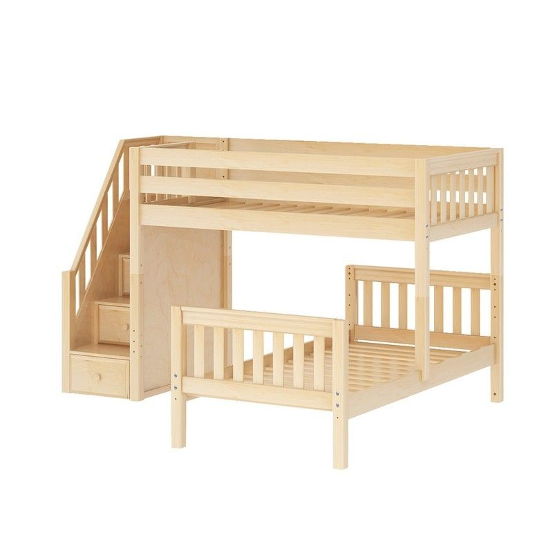 Twin L Shaped Bunk Bed With Stairs Diy Bunk Bed Loft Bed Bunk Beds