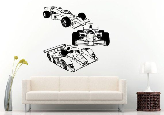 three formula one f1 speed racing super cars wall decal vinyl