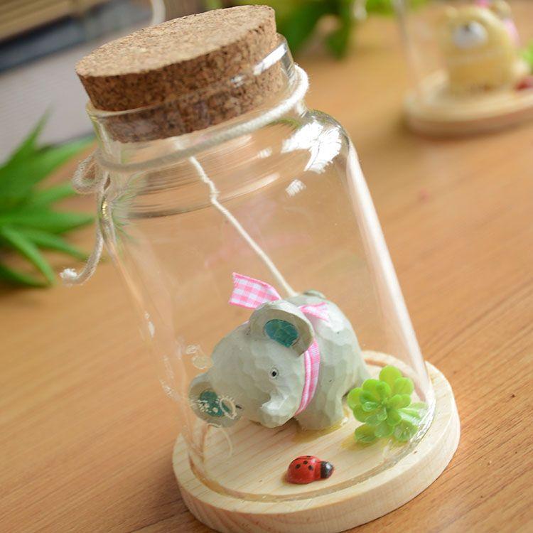 kka Wishing bottle glass bottle milk bottle groceries control shooting props A0812couple gifts