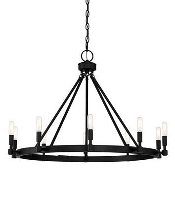 Chandeliers 3 Light Fixtures With Matte Black Finish Steel Material Candelabra 12