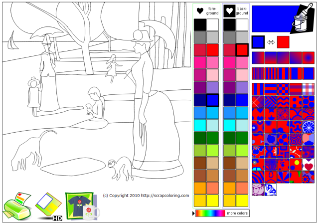 Seurat Interactive Coloring Page