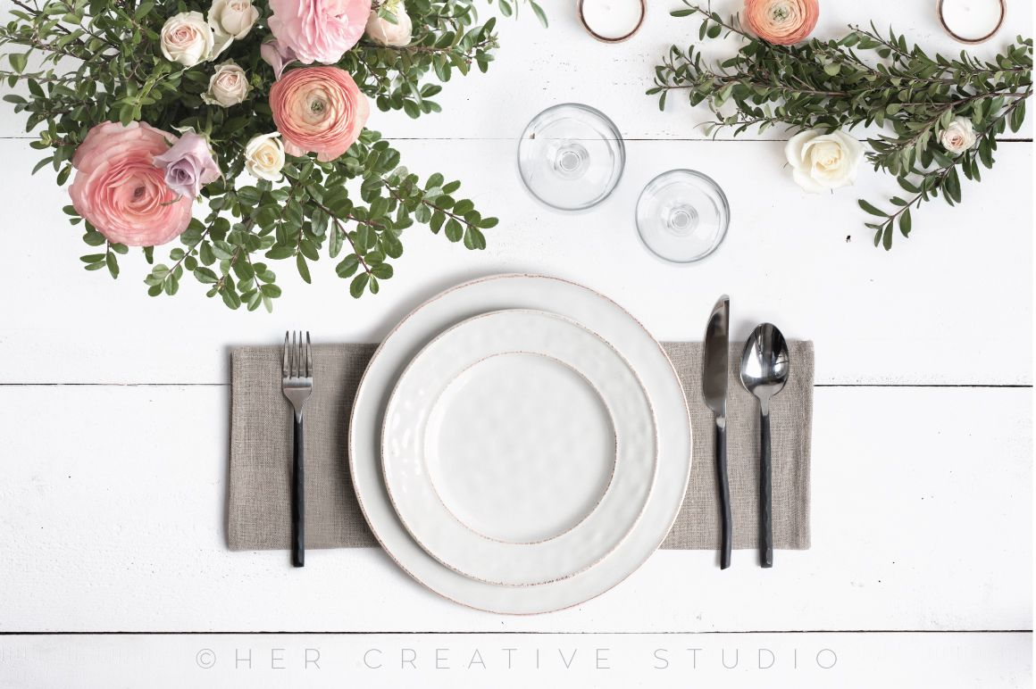 Menu Mockup, Wedding Stationery by Her Creative Studio on @creativemarket