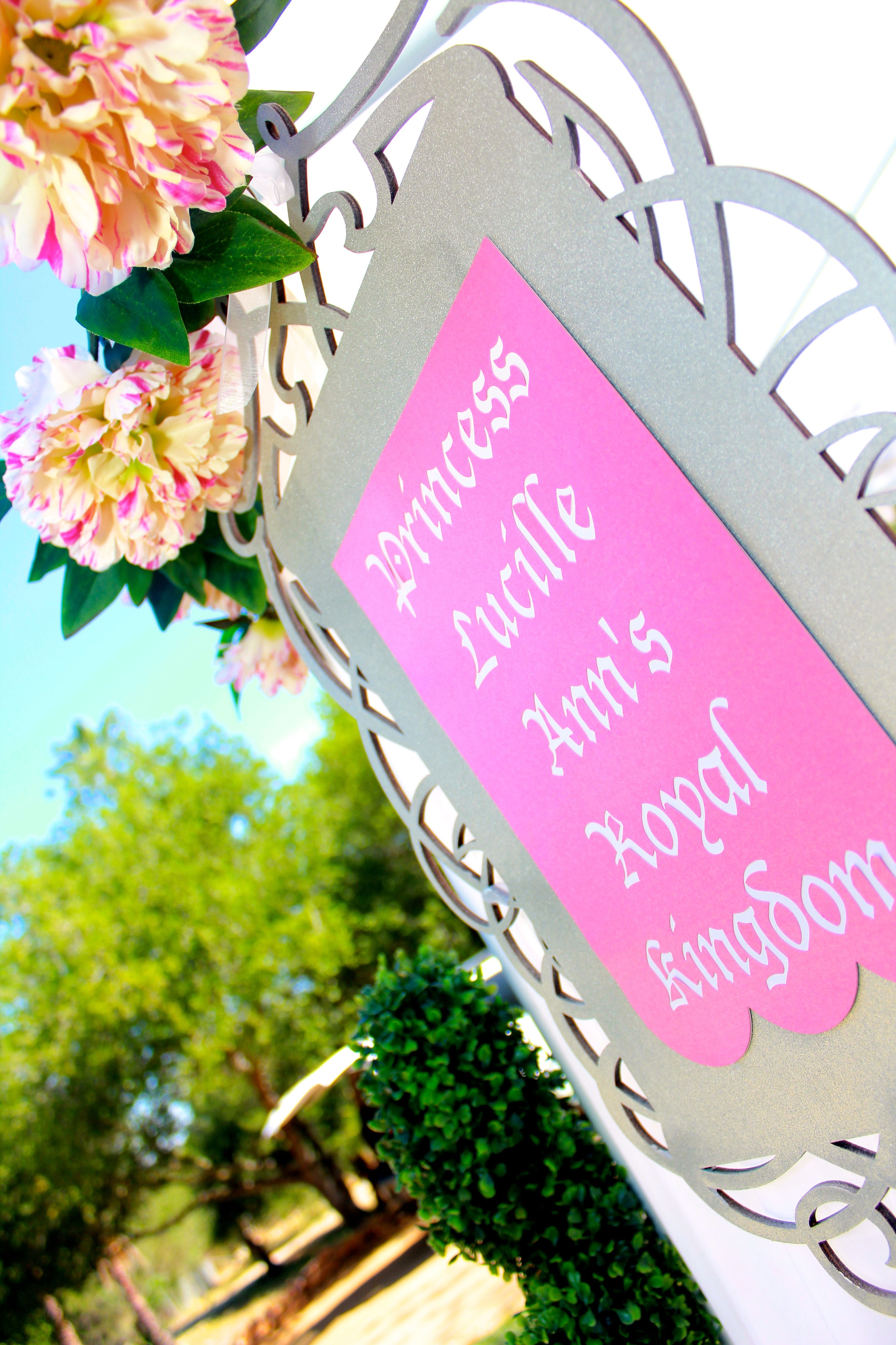 Princess Party Signage