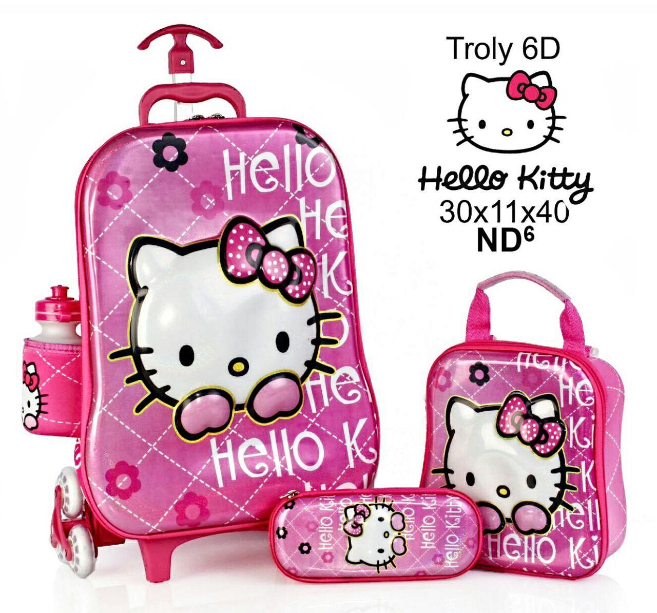 Tas Anak Tas Trolley Anak Hello Kitty TerbaruTas Trolley Anak