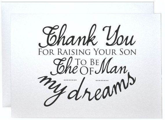 Thank You Card New Inlaws Gift Future Parents Thank You For