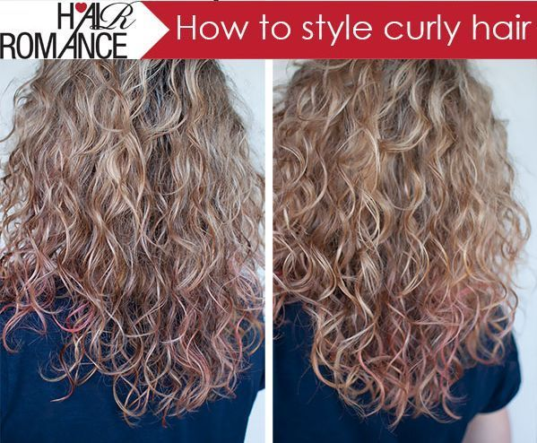 How To Style Curly Hair I Do This Every Day Just With Cat Walk Curls Rock Cream It Doesn T Contain The Alcohol Curly Hair Styles Hair Styles Curly Hair Tips