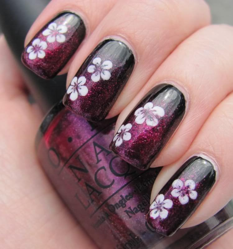 Pastelliunelmia.: simple dotting tool flowers.
