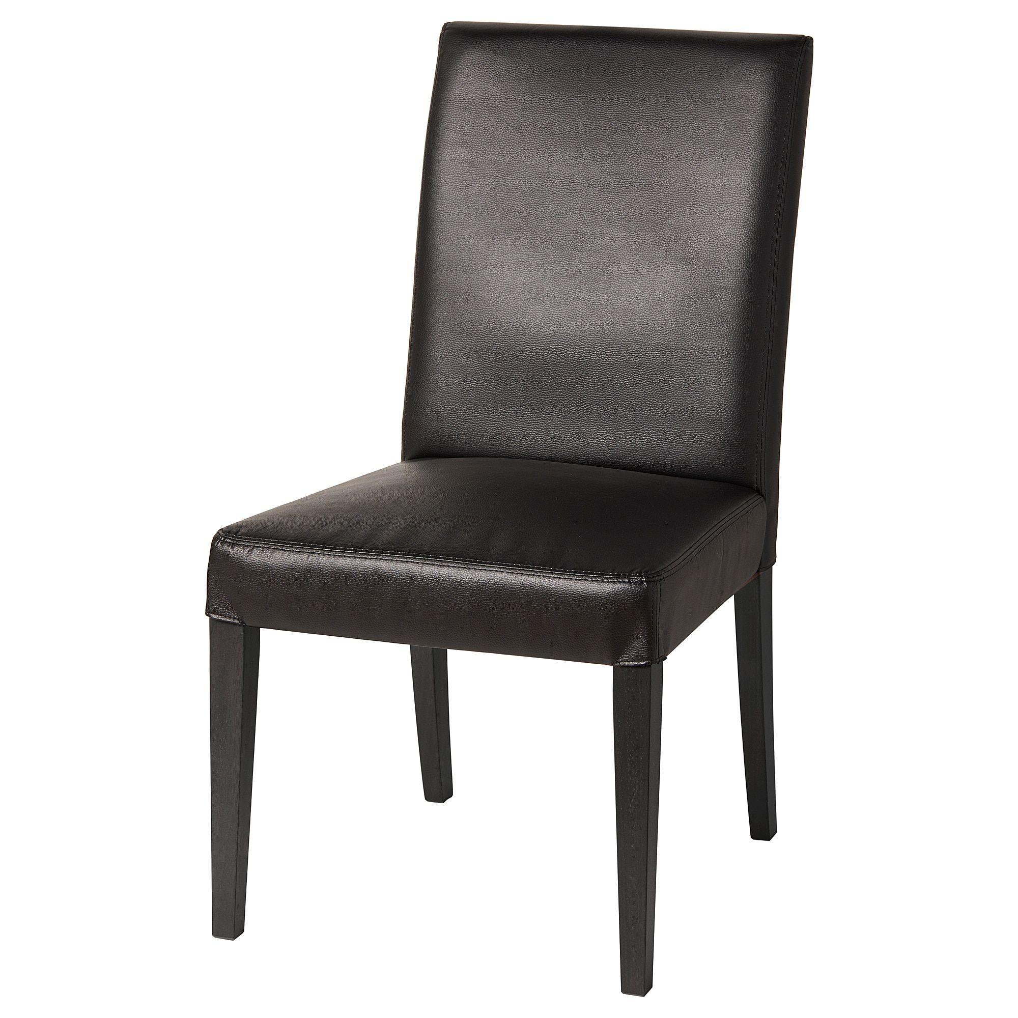 Ikea Henriksdal Black Bomstad Black Chair In 2020 Black