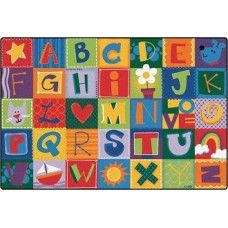 Kids Rugs Toddler Alphabet Blocks 4 X 6 Rectangle Rugs