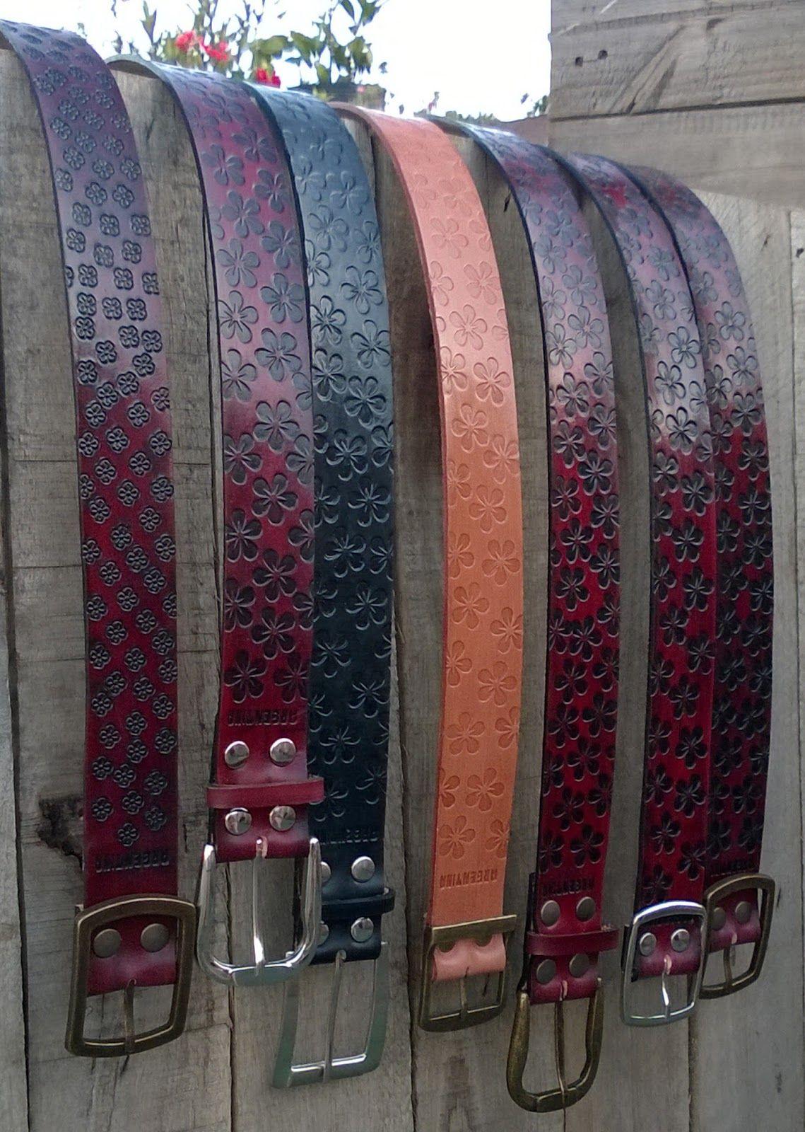 Artesanías en cuero. Cinturones cincelados 7dca8e2b6d37
