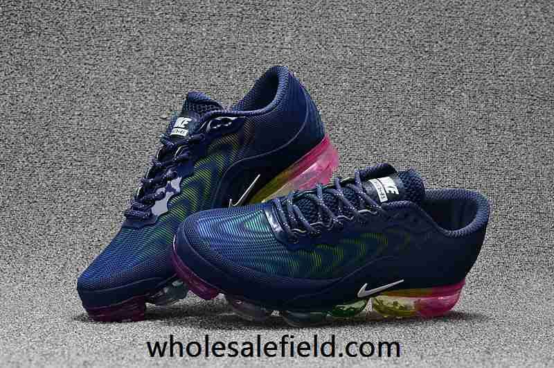 best sneakers ff3e2 e2058 Nike Air Max 2018.5 KPU Dark Blue Rainbow Sole Women Men