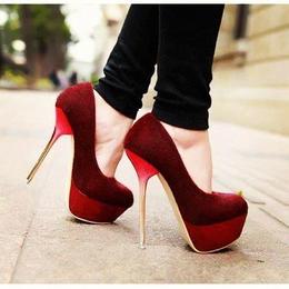 Beautiful dark red high heels | Red
