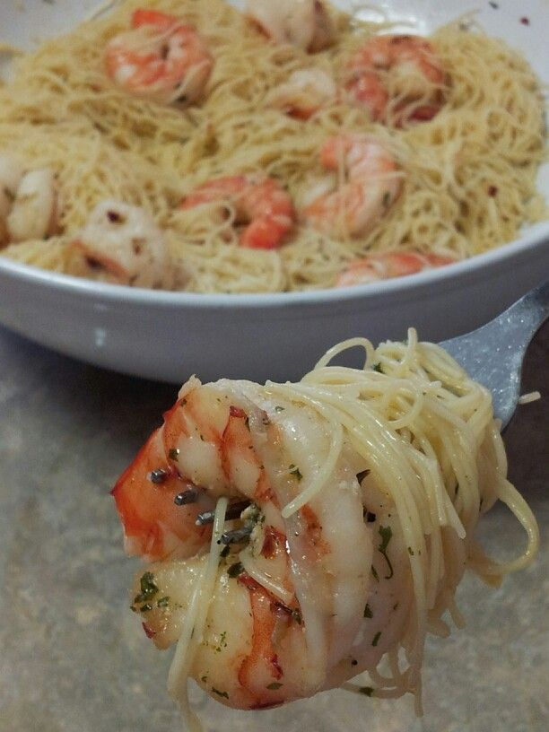 Cinfully Sweet Co: Shrimp Scampi with Angel Hair Pasta