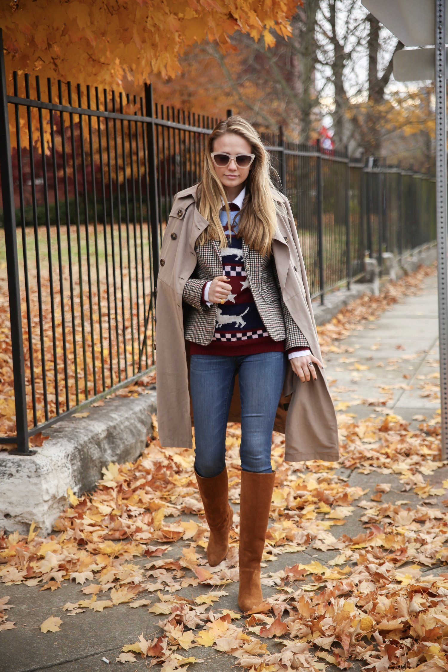 4e9a95957fe Fall in Nashville calls for an ASOS trench coat, J. Crew tweed ...