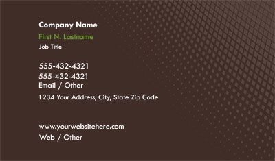 Check out the Brown and White Gradient Business Card ...